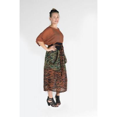 Morphe Plus size kimono rust and animal print