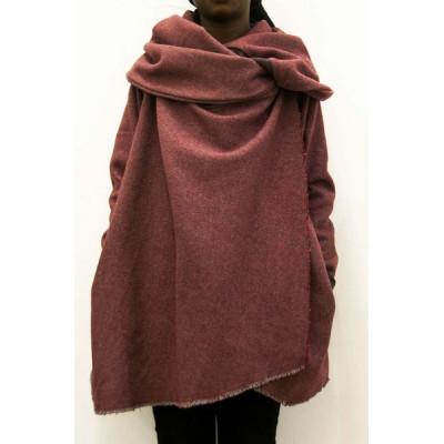 Morphe square red n grey melton hoody